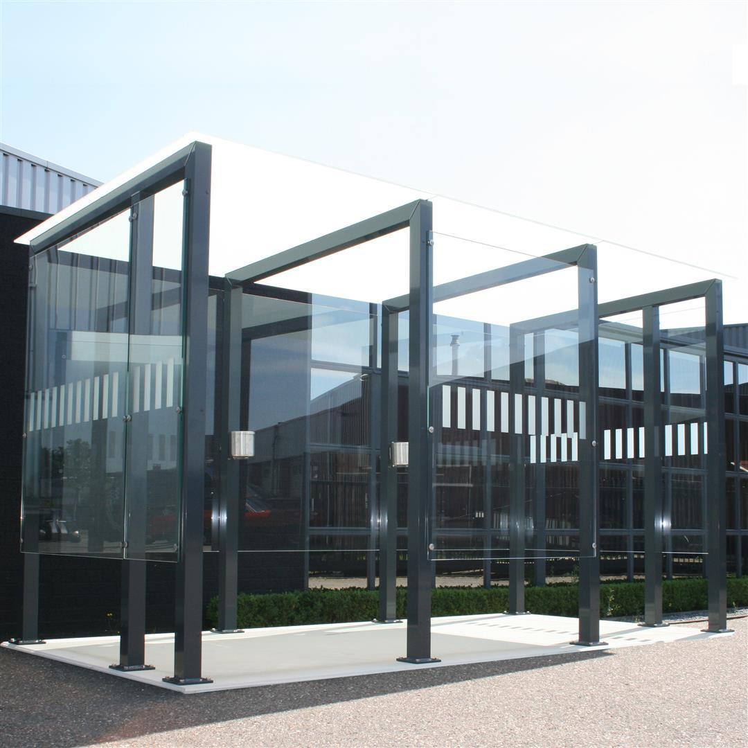 Glass Smoking Shelter : Raucherkabinen outdoor robust und modern rbce